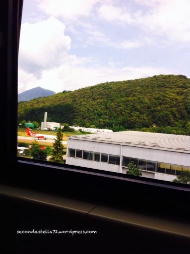 Vista pista dall'ufficio