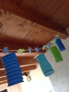 Ghirlanda di lanterne colorate