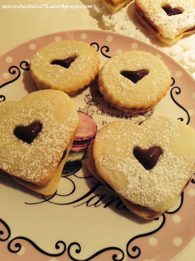 Biscottini di San Valentino alla Nutella