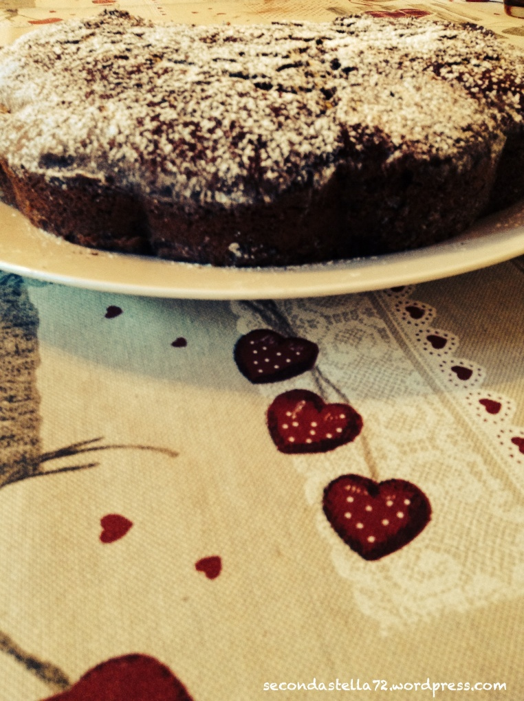 Torta cioccolato e pere