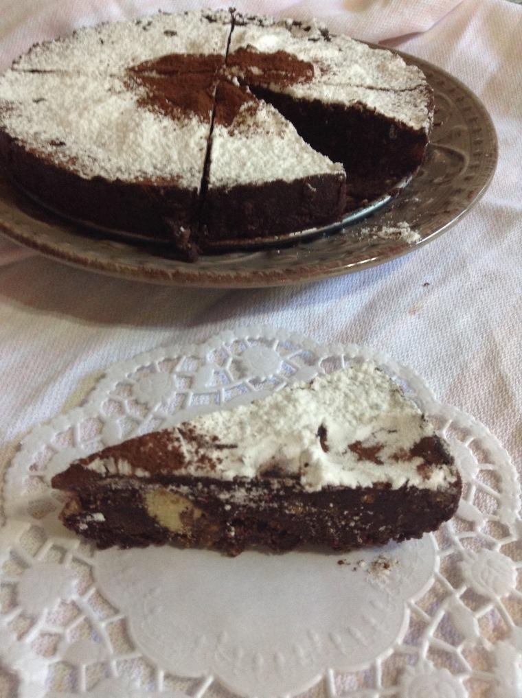 Torta fredda cacao e biscotti