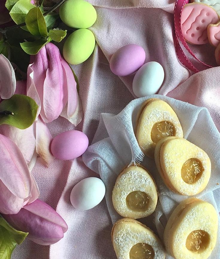 Biscottini ovetto con marmellata di limoni